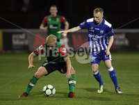 Danske Bank Premiership, NIFL. The Oval, Belfast.. 07-09-2018. Glentoran v Newry City AFC. Connor Pepper Glentoran and Conan Delaney Newry. Mandatory Credit ©INPHO/Freddie Parkinson