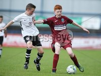 PressEye-Northern Ireland- 27th   July  2018-Picture by Brian Little/PressEye. SuperCupNI. Minor  Section . Greenisland Ryan Price     against Bertie Peacock Youths  Michael Stewart     during the SuperCupNI Minor Final  at Coleraine Showgrounds. . Picture by Brian Little/PressEye