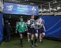 Ireland Rugby Captain\'s Run, Stade de France, Paris, France 12/2/2016. Nathan White, Andrew Trimble and Tadgh Furlong arrive for today\'s Captain\'s Run. Mandatory Credit ©INPHO/Billy Stickland.