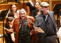 Press Eye - Belfast -  Northern Ireland - 14th December 2015 - Photo by William Cherry. The Hole In The Wall Gang\'s Da and Uncle Andy (Tim McGarry and Marty Reid) pictured the BBC Radio Ulster 40th Birthday gala concert at the Ulster Hall, Belfast.