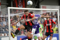 24th August 2019. Danske Bank Premiership. Seaview Belfast. Crusaders v Larne. Crusaders Chris Hegarty in action with Larnes Tomas Cosgrove. Mandatory Credit : Stephen Hamilton/Inpho