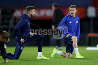 Press Eye - Belfast, Northern Ireland - 09th October 2019 - Photo by William Cherry/Presseye. Northern Ireland\'s Steven Davis and Stuart Dallas during Wednesday nights training session at Stadium Feijenoord ahead of Thursday nights UEFA Euro 2020 Qualifier against Netherlands in Rotterdam. Photo by William Cherry/Presseye
