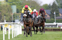 Press Eye - Belfast - Northern Ireland - 7th May 2018  - . May Day Meeting at Down Royal Racecourse.. BELFAST LIVE HURDLE. Moonshine Bay ridden by Robbie Power wins the 3rd race.. Photo by Kelvin Boyes / Press Eye .