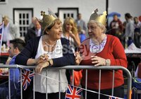 ©Russell Pritchard / Presseye  - 4th June 2012. Diamond Jubilee Street Party, Main Street Broughshane. Jean and Iona Bailey. ©Russell Pritchard / Presseye