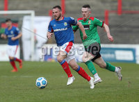Danske Bank Premiership, The Oval, Belfast, Northern Ireland. 1/5/2021. Glentoran vs Linfield FC . Glentoran  Ciaran O\'Connor  and Linfield Jamie Mulgrew  . Mandatory Credit INPHO/Presseye/Brian Little
