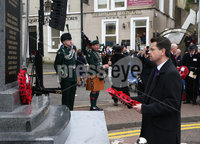 Wednesday 8th November 2017. Pictures by Press Eye . com. Secretary of State James Brokenshire,lays a wreath during The Service at the unveiling and dedication of the memorial for the victims of the 1987 Enniskillen Poppy Day Bomb.. ©presseye©
