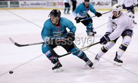 Press Eye - Belfast -  Northern Ireland - 24th August 2019 - Photo by William Cherry/Presseye . Belfast Giants\' Patryk Wronka during Saturday nights Exhibition Game against Herning Blue Fox at the SSE Arena, Belfast.    Photo by William Cherry/Presseye