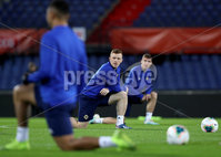 Press Eye - Belfast, Northern Ireland - 09th October 2019 - Photo by William Cherry/Presseye. Northern Ireland\'s Shayne Lavery during Wednesday nights training session at Stadium Feijenoord ahead of Thursday nights UEFA Euro 2020 Qualifier against Netherlands in Rotterdam. Photo by William Cherry/Presseye