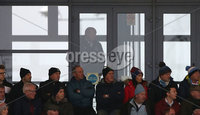 Danske Bank Premiership, Showgrounds, Ballymena . 7/3/2020. Ballymena United FC v Coleraine FC. Ballymena United\'s manager David Jeffrey watching the match from the grandstand after being  shown the red card by Referee Steven Gregg.. Mandatory Credit  INPHO/Brian Little