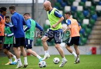 Press Eye - Belfast, Northern Ireland - 01st September 2020 - Photo by William Cherry/Presseye. Northern Ireland\'s Liam Boyce during Tuesday mornings training session at the National Stadium at Windsor Park, Belfast ahead of Friday nights Nations League game in Romania.    Photo by William Cherry/Presseye