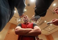 Ireland Rugby Press Conference, Crowne Plaza Hotel, Auckland, New Zealand 11/6/2012. Ireland player Donnacha Ryan during the press conference. Mandatory Credit ©INPHO/Billy Stickland