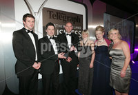 Press Eye - Belfast - Northern Ireland - Tuesday 24th April 2012 -  Picture by Kelvin Boyes / Press Eye.. 2012 Belfast Telegraph Northern Ireland Business Awards in association with bmi at the Ramada Hotel. MUST USE. Excellence in Technology, sponsored by Cleaver Fulton Rankin. Scott Kennedy, a director and head of the Intellectual Property and Technology team at category sponsor Cleaver Fulton Rankin Solicitors, presented Andrew Frazer, Tom Moody, Jill Caswell, Maeve O\'Neill and Susan Beatty of Almac with the Excellence in Technology award.