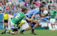 GAA Football All Ireland Senior Championship Quarter-Final, Croke Park, Dublin 2/8/2015. Dublin vs Fermanagh. Dublin\'s Dean Rock with Mickey Jones of Fermanagh. Mandatory Credit ©INPHO/Morgan Treacy