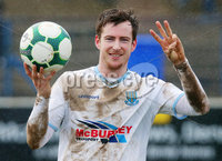 Danske Bank Premiership at Coleraine Showgrounds, Coleraine  09.03.2019. Coleraine FC Vs Ballymena United. . Ballymena\'s Andrew McGrory pictured after the match after he scored a hat trick to make it 0-4.. . Mandatory CreditINPHO/PressEye.com/Jonathan Porter.