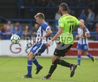 Danske Bank Premiership, Showgrounds, Coleraine 4/8/2018. Coleraine vs Warrenpoint. Coleraine\'s Caolan Brennan and Warrenpoint\'s Gavin Brennan. Mandatory Credit ©INPHO/Lorcan Doherty