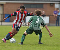 Press Eye - Belfast - Northern Ireland -24/08/2017. Picture by Dessie Loughery. SuperCupNI Junior Section . Chivas Guadalajara Vs Plymouth Argyle during Tuesday\'s SuperCup NI Junior Section match at Parker Avenue Portrush. Chivas Guadalajara Miguel Gomez in play