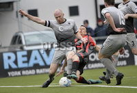 07/12/2019. Danske Bank Premiership, Seaview, Belfast Co. Antrim . Crusaders v Institute. Crusaders Paul Heatley  in action with Institutes Dean Curry. Mandatory Credit INPHO/Stephen Hamilton.