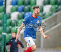 Danske Bank Premiership, Windsor Park, Belfast 9/2/2019. Linfield vs Coleraine. Linfield\'s Niall Quinn celebrates scoring. Mandatory Credit INPHO/Matt Mackey
