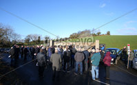 Press Eye Belfast - Northern Ireland 5th January 2018. Memorial service in Kingsmill, Co. Armagh to mark the anniversary of the murder of 10 Protestant workmen by the IRA.  The victims - textile factory workers - were shot dead when an IRA gang ambushed their mini-bus in 1976 near the Co. Armagh village.. Picture by Jonathan Porter/PressEye.com