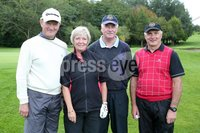 1 September 15 -   Picture by Darren Kidd / Press Eye.. Hillsborough Oyster Festival 2015:. The Oyster Masters at Lisburn Golf Club:  Gerald Stanley, Jacqui Jellie, Alan McArthur and Maurice Jellie