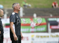 4th August 2018. Danske Bank Irish premier league match between Glentoran and Cliftonville at The Oval in Belfast.. Glentorans manager Gary Smyth.  Mandatory Credit: Stephen Hamilton /Inpho