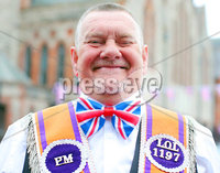 Press Eye - Belfast - Northern Ireland - 12th July 2018. Annual Orange Order parade takes place in Belfast with lodges and bands making their way through the city centre to the field at Shaws Bridge. . David English from LOL1197 North Belfast. . Picture by Jonathan Porter/PressEye