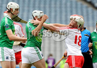Lory Meagher Final, Croke Park, Dublin 9/6/2012. Fermanagh vs Tyrone. Tempers flare at the end of extra time . Mandatory Credit ©INPHO/Ryan Byrne
