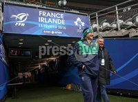 Ireland Rugby Captain\'s Run, Stade de France, Paris France 12/2/2016. Ireland head coach Joe Schmidt makes his way out for today\'s Captain\'s Run. Mandatory Credit ©INPHO/Billy Stickland.