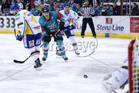 Press Eye - Belfast -  Northern Ireland - 09th February 2018 - Photo by William Cherry/Presseye. Belfast Giants Jonathan Ferland during Friday nights Elite Ice Hockey League game at the SSE Arena, Belfast.