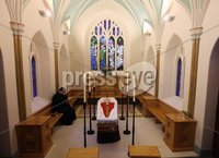 Cardinal Cahal Daly at St Peter\'s Cathedral in Belfast