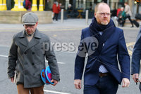 Press Eye - Belfast - Northern Ireland - 30th November 2018. . The Detail journalists Barry McCaffrey(left) and Trevor Birney pictured entering PSNI Musgrave Street Station where for further questioning after they were recently arrested regarding allegedly stolen information which appeared in the documentary \'No Stone Unturned\'.  The documentary told the story of the murder of six men by the UVF in a pub in Loughinisland, Co. Down. . The NUJ also held a protest outside the station in support of the two journalists. . Picture by Jonathan Porter/PressEye