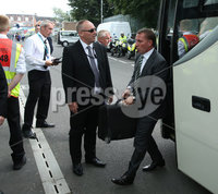 PressEye-Northern Ireland- 14th July  2017-Picture by PressEye. Linfield      and Celtic manager Brendan Rodgers arrives ahead of Friday\'s UEFA Champions League Qualifier Round 2 (First Leg) match  against Linfield  at Windsor Park.. Picture by PressEye