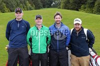 1 September 15 -   Picture by Darren Kidd / Press Eye.. Hillsborough Oyster Festival 2015:. The Oyster Masters at Lisburn Golf Club:  Aaron CobbRicky Patterson, Lee Faulkner and Mark McKibben