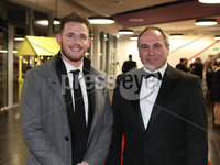 Press Eye - Belfast - Northern Ireland - 14th January 2019.. BELFAST TELEGRAPH SPORTS AWARDS 2018. Craig Gilroy and Chris Nelmes pictured at the  Belfast Telegraph Sports Awards in the ICC Belfast.. Photo by Matt Mackey / Press Eye.
