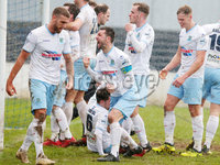 Danske Bank Premiership at Coleraine Showgrounds, Coleraine  09.03.2019. Coleraine FC Vs Ballymena United. . Ballymena\'s Jim Ervin celebrates after Andrew McGrory scores to make it 0-4 and gets a hat trick. . . Mandatory CreditINPHO/PressEye.com/Jonathan Porter.