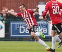 ©/Presseye.com - 19th May 2017.  Press Eye Ltd - Northern Ireland - Airtricity League Premier Division - Derry City V Shamrock Rovers. Derry\'s Aaron McxEneff celebrates his goal.. Mandatory Credit Photo Lorcan Doherty / Presseye.com