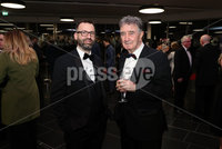 Press Eye - Belfast - Northern Ireland - 14th January 2019.. Alastair Burton and Robin Walsh pictured at the  Belfast Telegraph Sports Awards 2018 in the ICC Belfast.. Photo by Kelvin Boyes / Press Eye..
