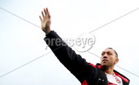 European Rugby Champions Cup Round 5, Kingspan Stadium, Belfast 13/1/2018. Ulster vs La Rochelle. Ulster\'s Christian Lealiifano waves goodbye to the Ulster fans on his last game. Mandatory Credit ©INPHO/Tommy Dickson