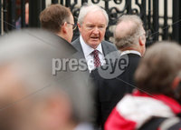 Press Eye -Belfast - Northern Ireland - 6th November 2017 . Relatives of a number of victims murdered by the loyalist Glenanne Gang appear at the High Court for a formal declaration that police breached their human rights by not completing a major report in the killings.. Lord Chief Justice Declan Morgan pictured outside the High Court. . Photo by Jonathan Porter / Press Eye..