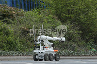 Press Eye - Belfast - Northern Ireland - 14th May 2018. The scene on the Springfield Road in west Belfast were a security alert is underway. . Picture by Jonathan Porter/PressEye