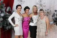 Press Eye Belfast - Northern Ireland - Wednesday 14th December 2011 -IN! Magazine Christmas Party at the Merchant Hotel. Picture by Kelvin Boyes / Press Eye.. Danielle O\'Donnell, Natasha Feeney, Samantha Cochrane and Ciara O\'Kane