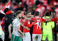Press Eye - Belfast -  Northern Ireland - 12th November 2017 - Photo by William Cherry/Presseye. Northern Ireland\'s Stuart Dallas is dejected after drawing 0-0 with Switzerland but lost the World Cup Play Off 1-0 over the two games.
