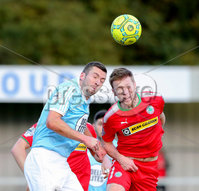 Danske Bank Premiership, Milltown Playing Fields, Newry 2/12/2017 . Warrenpoint Town vs Cliftonville. Warrenpoint\'s Stephen Murray and Cliftonville\'s Stephen Garrett. Mandatory Credit ©INPHO/Philip Magowan