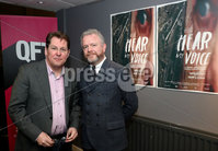 Press Eye - Belfast -  Northern Ireland - 11th April 2018 - Photo by William Cherry/Presseye. The gala premiere of Brendan J. Byrne's new film inspired by Colin Davidson's Silent Testimony exhibition, was held at the QFT Belfast this evening. Pictured are Colin Davidson and Brendan J. Byrne.