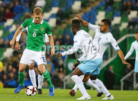 Press Eye Belfast - Northern Ireland 11th September 2018. International Challenge match at the National Stadium at Windsor Park in Belfast.  Northern Ireland Vs Israel. . Northern Ireland\'s George Saville. Picture by Jonathan Porter/PressEye.com