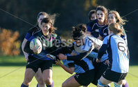 Picture - Kevin Scott / Presseye. Belfast , UK - NOVEMBER 22, Queens Christina Ramos  in action during the ladies rugby game in Belfast, Northern Ireland on November 22 (Photo by Kevin Scott / Presseye).