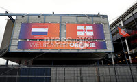 Press Eye - Belfast, Northern Ireland - 09th October 2019 - Photo by William Cherry/Presseye. The Stadium Feijenoord where Northern Ireland\'s were training ahead of Thursday nights UEFA Euro 2020 Qualifier against Netherlands in Rotterdam. Photo by William Cherry/Presseye