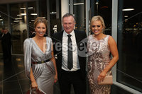 Press Eye - Belfast - Northern Ireland - 14th January 2019.. Claire McCollum, Michael O\'Neill and Ruth Gorman  pictured at the  Belfast Telegraph Sports Awards 2018 in the ICC Belfast.. Photo by Kelvin Boyes / Press Eye..