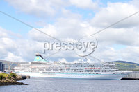 Press Eye Belfast - Northern Ireland 9th August 2017. The cruise ship Artania docked in Belfast today. . Picture by Jonathan Porter/PressEye.com