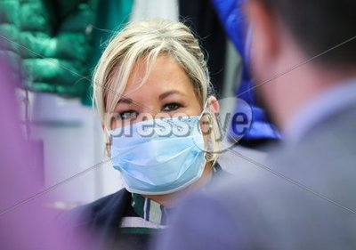 Michelle O'Neill in Cookstown
